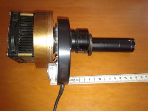 Treno ottico: CCD-ruota-correttore coma-prolunga-SA100